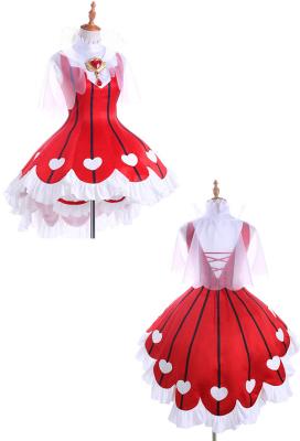 Cardcaptor Sakura Sakura Red Battle Dress OP Sakura Lolita Cosplay Costume