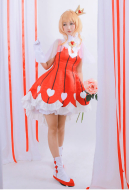 Cardcaptor Sakura Sakura Red Battle Dress OP Sakura Lolita Cosplay Costume