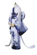Anime Cardcaptor Sakura Female Cosplay Sakura Blue Dyed Kimono Cosplay Costume