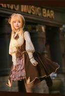 Cardcaptor Sakura Sakura Kinomoto Cosplay Costume Medieval Fantasy Cosplay Steampunk Style Daily Dress