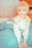 Clamp Kinomoto Sakura Doll Lolita Blue Dress Cosplay Costume
