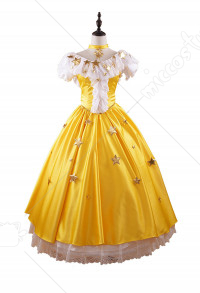 Cardcaptor Sakura Sakura Kinomoto Starry Yellow Dress Cospaly Costume