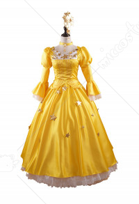 Cardcaptor Sakura Tomoyo Daidouji Starry Yellow Dress Cosplay Costume