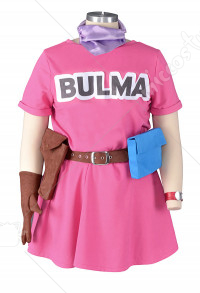 Plus Size Dragon Ball Bulma Cosplay Costume
