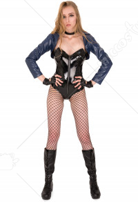 Superhero Dark Canary Cosplay Costume Bodysuit