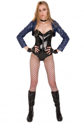 DC Comic Black Canary Cosplay Costume Bodysuit