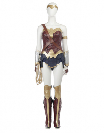 Super Heroine Upgraded Fullset Cosplay Costume Inspired by Wonder Woman (Including the Shoes) Order to Made
