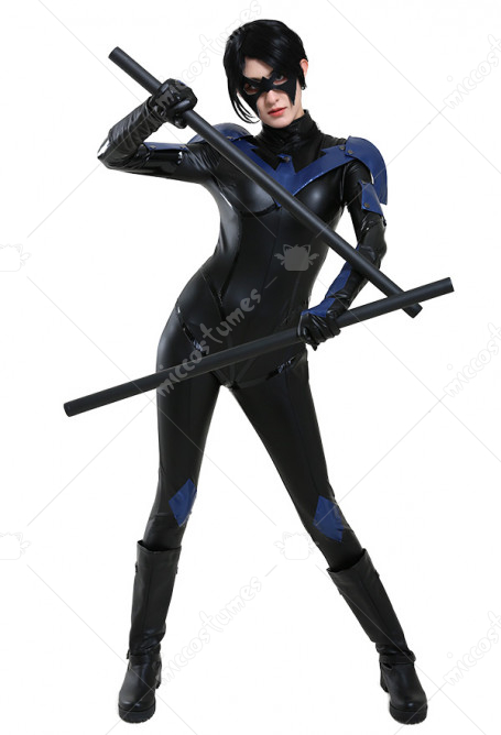 Hand-to-hand Combat Woman Black Night Jumpsuit Bodysuit Halloween Costume
