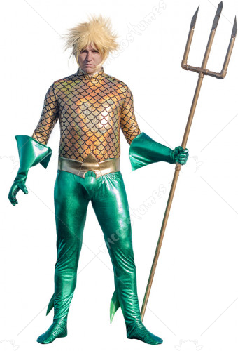 Superhero Cosplay Suit Costume Inspired by Aquaman Movie Make to Order