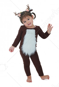 Child Deer Costume with Horns for Halloween
