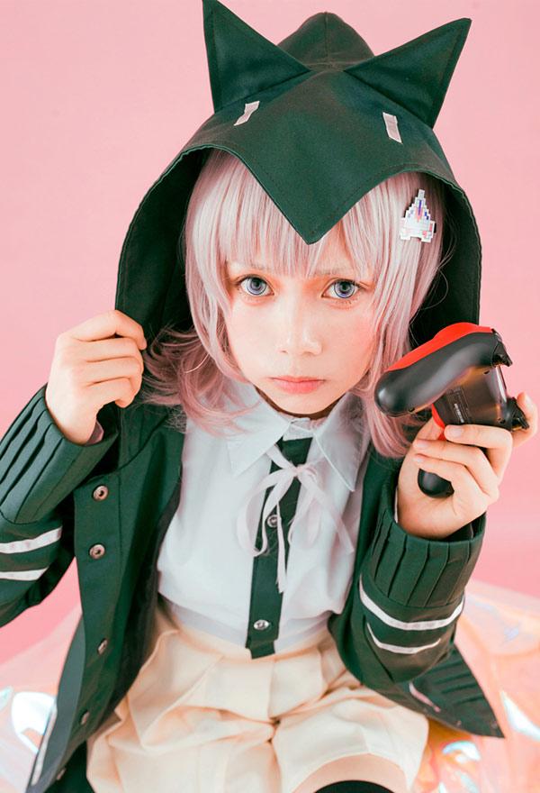 Danganronpa 2: Goodbye Despair Nanami Chiaki Schuluniform Damen Cosplay Kostüm