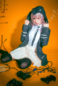 Super Danganronpa 2: Goodbye Despair Nanami Chiaki School Uniform Women Cosplay Costume