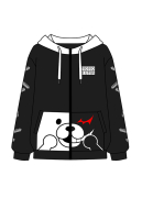Monzon Danganronpa Monokuma Cosplay Costume Fleece Hoodie