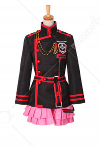 D.Gray-man HALLOW Lenalee Lee Three Generations of Group Second Season Uniform Suit Cosplay Costume