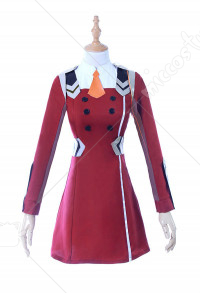 DARLING in the FRANXX Zero Two Code 002 Outfit Including Stockings and Hair Accessory