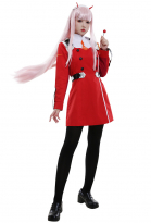 DARLING in the FRANXX Zero Two Code 002 Cosplay Uniforme Con Accesorio Para El Cabello