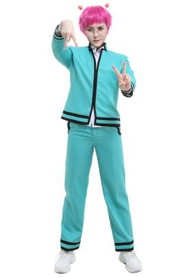The Disastrous Life of Saiki K Saiki Kusuo Cosplay Costume Stand Collar School Uniform Style Jacket Full Set with Shirt Pants Hair Accessories