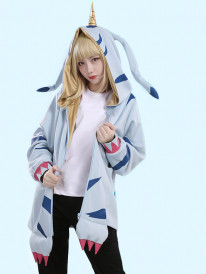Digital Monster Digimon Gabumon Cute Coat Outfit Cosplay Costume