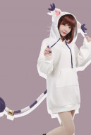 Digital Monster Digimon Gatomon Cute Coat Outfit Cosplay Costume