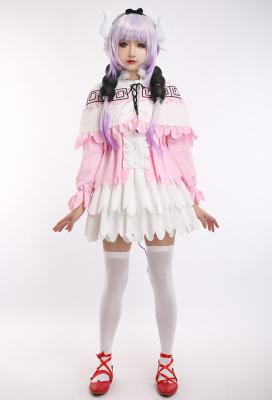 Miss Kobayashis Dragon Maid Kanna Kamui Maid Uniform Cosplay Costume