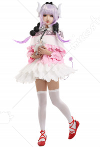 Miss Kobayashis Dragon Maid Kanna Kamui Maid Uniform Cosplay Costume