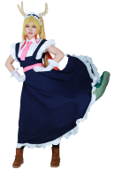 Miss Kobayashi's Dragon Maid Tohru Cosplay Costume with Tail and Headband