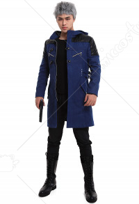 Devil May Cry 5 DMC 5 Nero Leder Cosplay Jacke Mantel Kostüm
