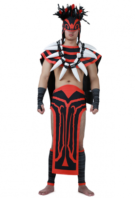 Dota 2 Bloodseeker Cosplay Costume with Shoe Covers