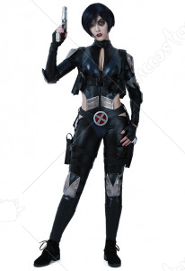 Deadpool Domino Cosplay Suit Costume with Belts set