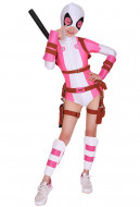 GwenPool Gwendolyn Gwen Poole Cosplay Bodysuit Costume Spandex Lycra Suit with Belt Set