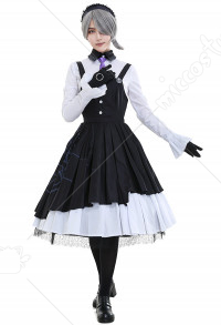 Dangan Ronpa Tojo Kirumi Ultimate Maiden Cosplay Kostüm Kleid