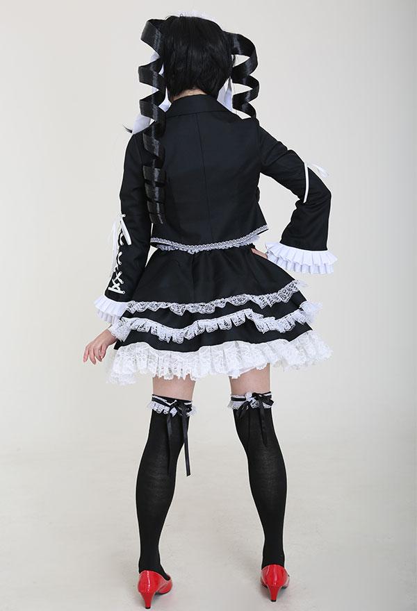 Dangan Ronpa Celestia Ludenberg Cosplay Kostüm Lolita Kleid mit Petticoat und Haarband