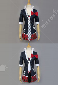 Danganronpa Junko Enoshima Cosplay Kostüm Jacke Mantel Uniform Set