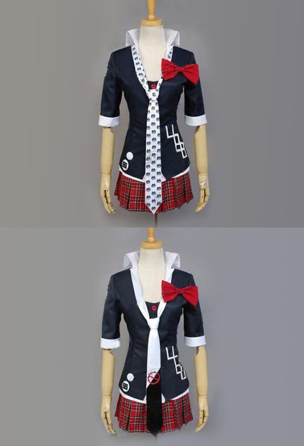 Danganronpa Junko Enoshima Cosplay Kostüm Jacke Mantel Uniform Set
