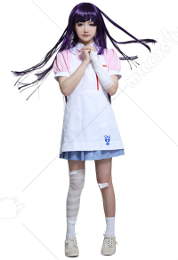 Danganronpa 2 Goodbye Despair Mikan Tsumiki Ultimate Nurse Dress Cosplay Costume with Apron