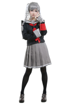 Danganronpa 2 Goodbye Despair Peko Pekoyama Ultimate Swordswoman Cosplay Kostüm Schuluniform