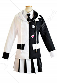 Danganronpa Women Monokuma Cosplay Costume Uniform with Tie