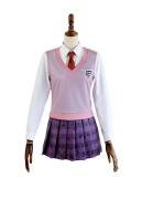 New Danganronpa V3 Akamatsu Kaede School Uniform Cosplay Costume
