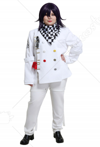 Plus Size Danganronpa V3 Kokichi Oma School Uniform Curvy Cosplay Costume with Scarf and Accessory