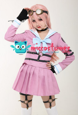 Danganronpa V3 Killing Harmony Iruma Miu School Uniform Cosplay Costume with Belts Set