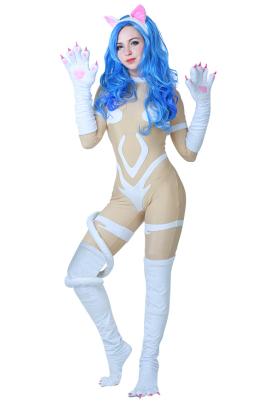 Darkstalkers Felicia Cosplay Costume Bodysuit