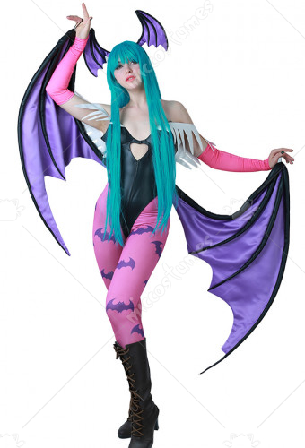 [Free US Economy Shipping] Darkstalkers Morrigan Aensland Cosplay Costume with Wings