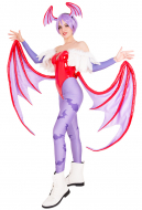 Darkstalkers Vampire Savior Lilith Cosplay Costume with Wings