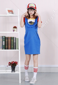 Dr. Slump Arale Norimaki Adult Overall Dress Cosplay Costume