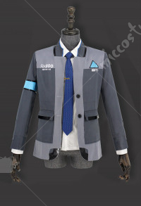 Detroit: Become Human Connor RK800 Agent Suit Uniform Cosplay Costume Coat Full Set