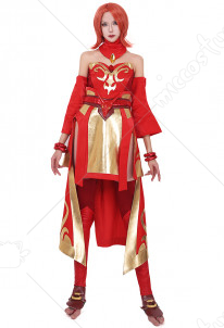 Dota2 Lina the Slayer Cosplay Costume Full Set