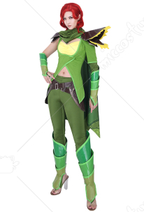 Dota2 Lyralei the Windranger Cosplay Costume Full Set