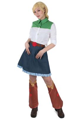 Little Horse Girls Applejack Cosplay Costume