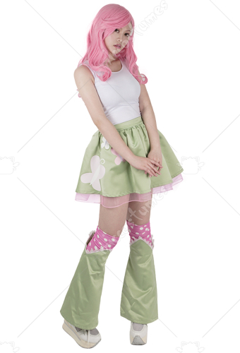 Little Horse Girls Pink and Light Green Cosplay Costume