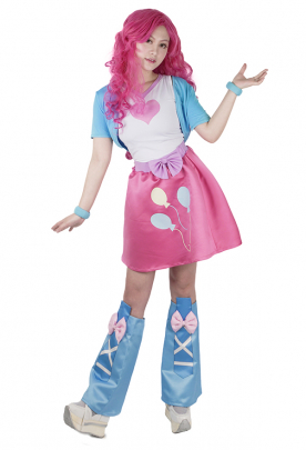 Little Horse Girls Pink Pie Cosplay Costume